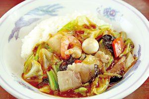 中華丼(スープ付き)