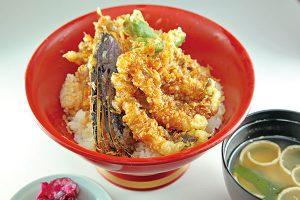 天丼(海老・白身魚・黒ゲンギョ入り)