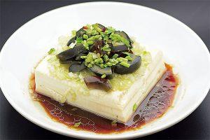 ピータン豆腐葱ソース
